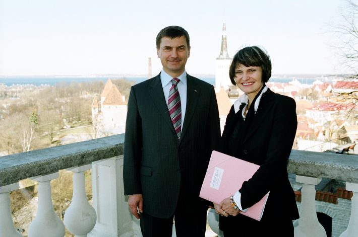 President Micheline Calmy-Rey meeting with Prime Minister Andrus Ansip at Stenbock House. Photo: Archives of the Ministry of Foreign Affairs / Erik Peinar