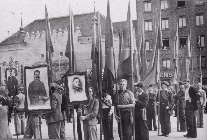 Miiting Tallinnas 24. juulil 1940. aastal. Foto: Rahvusarhiiv
