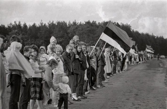 Der Baltische Weg. Foto: Estnisches Nationalarchiv, Harald Lepikson