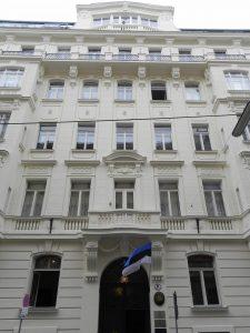 Eesti saatkond Viinis Wohllebengasse 9/12. Foto: Eesti saatkond Viinis